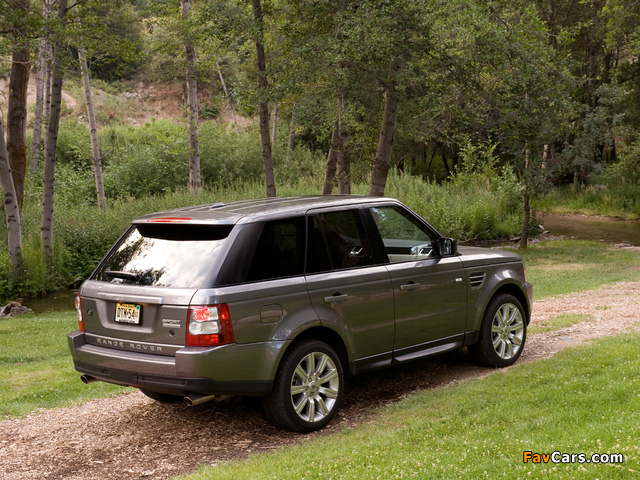 Range Rover Sport Supercharged US-spec 2008–09 pictures (640 x 480)