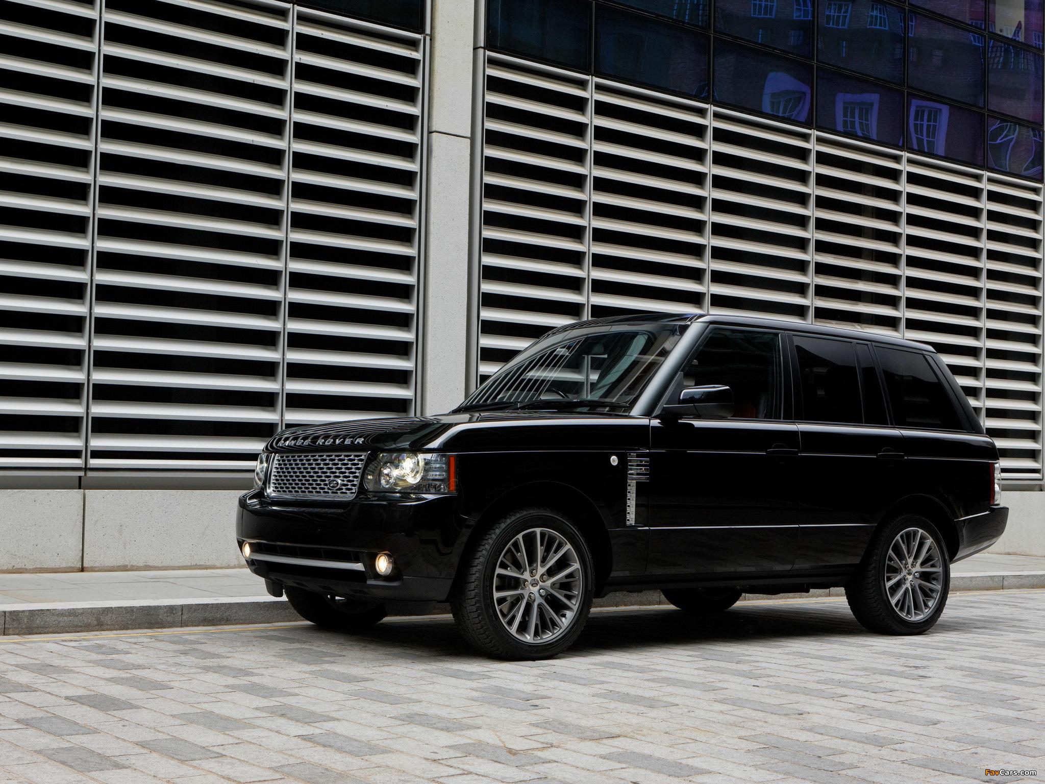 Range Rover Autobiography 2010 >> Range Rover Autobiography Black (L322) 2010 wallpapers (2048x1536)