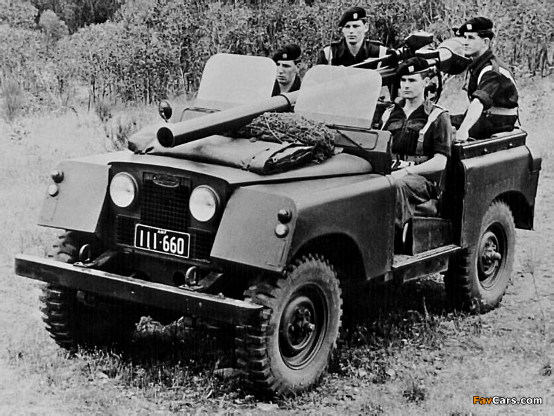 Land Rover Series II 88 Gunbuggy with 106 mm RCL 1959 images (800 x 600)
