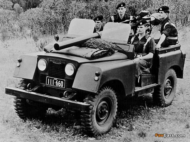 Land Rover Series II 88 Gunbuggy with 106 mm RCL 1959 images (640 x 480)