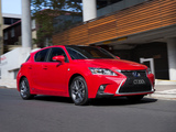Lexus CT 200h F-Sport AU-spec 2014 images