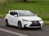 Lexus CT 200h F-Sport AU-spec 2014 photos