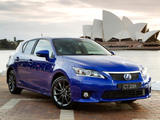 Photos of Lexus CT 200h F-Sport AU-spec 2011