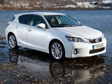 Lexus CT 200h UK-spec 2010–14 wallpapers