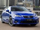 Lexus CT 200h F-Sport AU-spec 2011–14 wallpapers