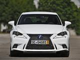 Pictures of Lexus IS 300h F-Sport EU-spec (XE30) 2013