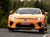Lexus LFA Nürburgring Performance Package 2010 images