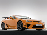 Lexus LFA Nürburgring Performance Package 2010 wallpapers