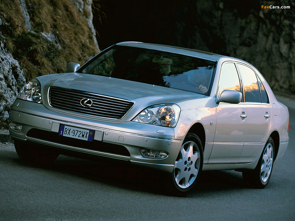 Images of Lexus LS 430 EU-spec (UCF30) 2000–03 (1024 x 768)