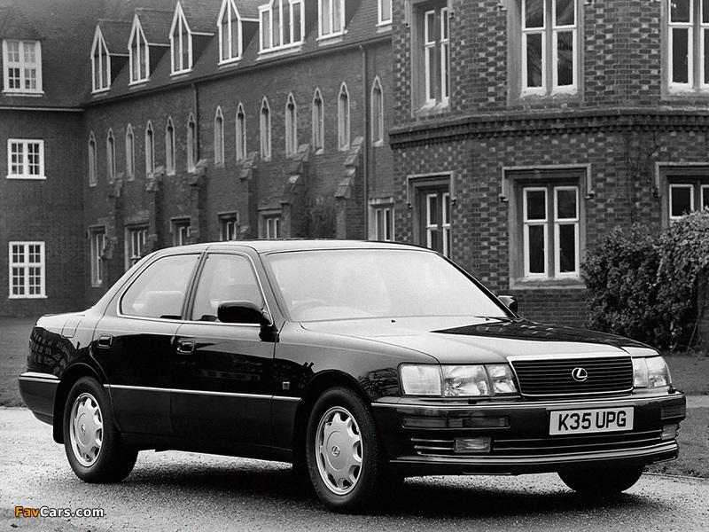 Lexus LS 400 UK-spec (UCF10) 1990–94 photos (800 x 600)