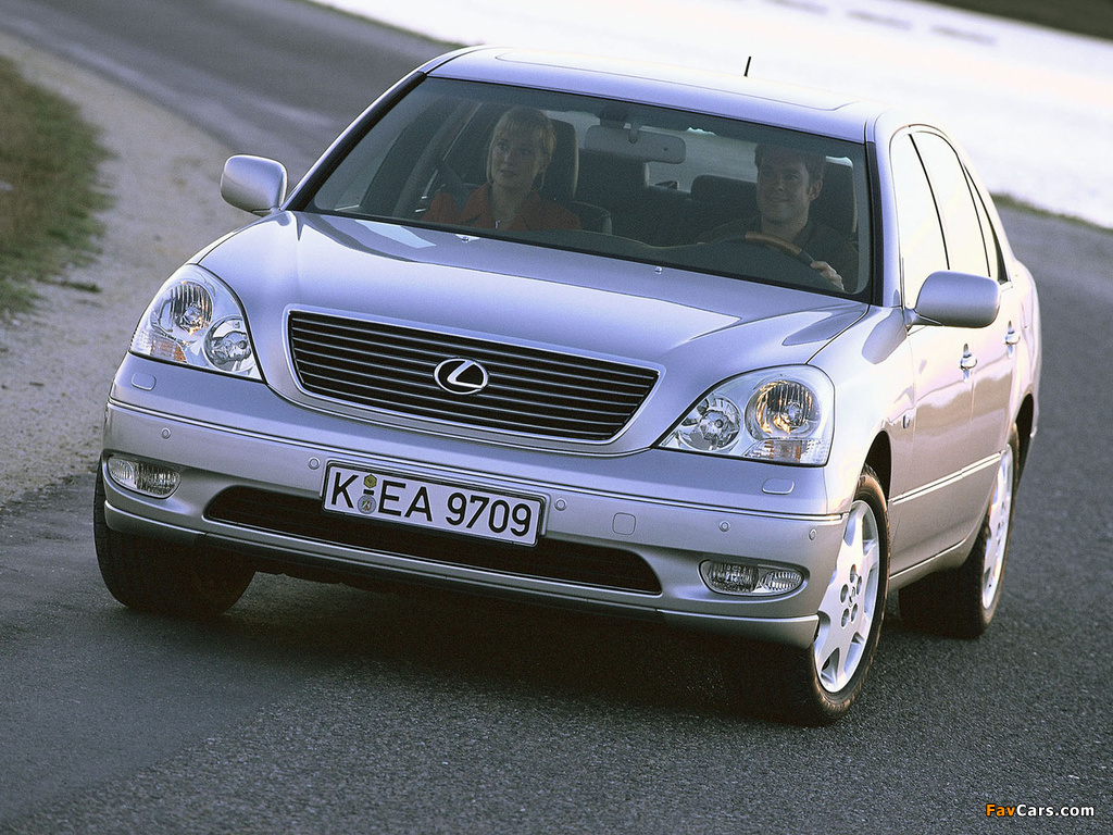 Lexus LS 430 EU-spec (UCF30) 2000–03 images (1024 x 768)