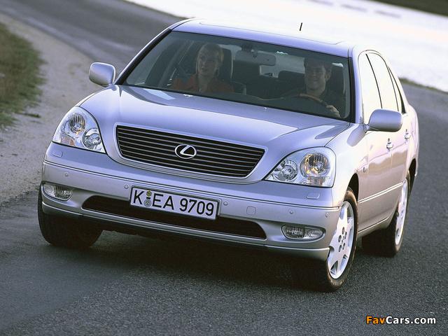 Lexus LS 430 EU-spec (UCF30) 2000–03 images (640 x 480)
