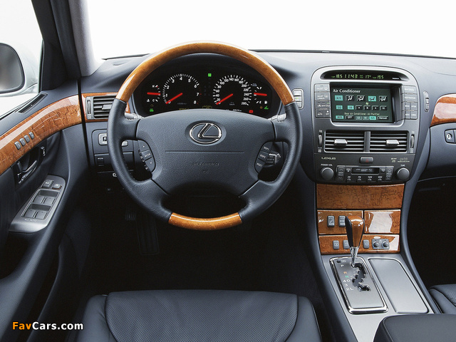 Lexus LS 430 EU-spec (UCF30) 2000–03 photos (640 x 480)