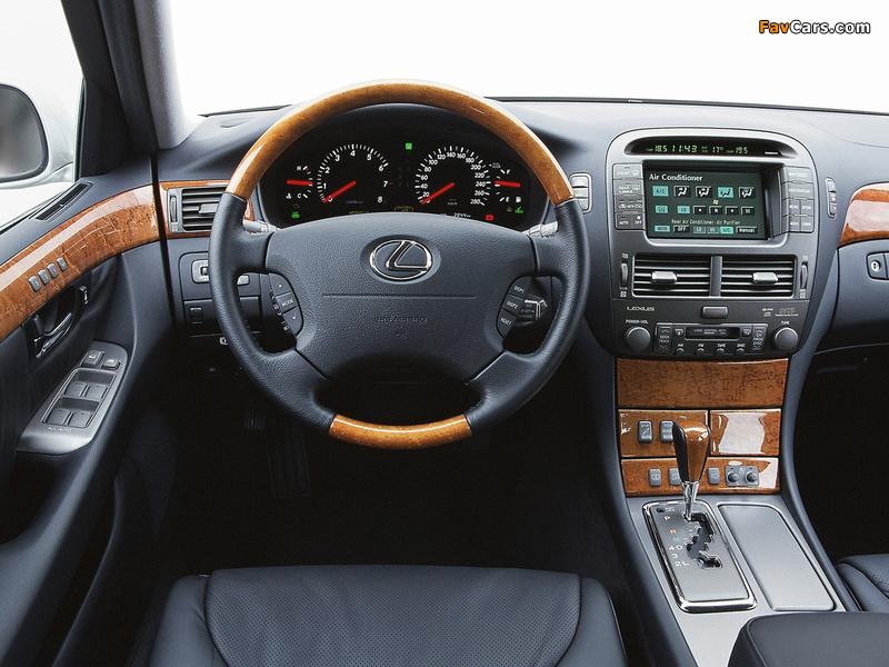 Lexus LS 430 EU-spec (UCF30) 2000–03 photos (800 x 600)