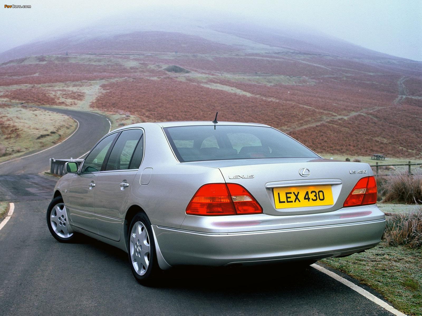 Lexus LS 430 UK-spec (UCF30) 2000–03 photos (1600 x 1200)