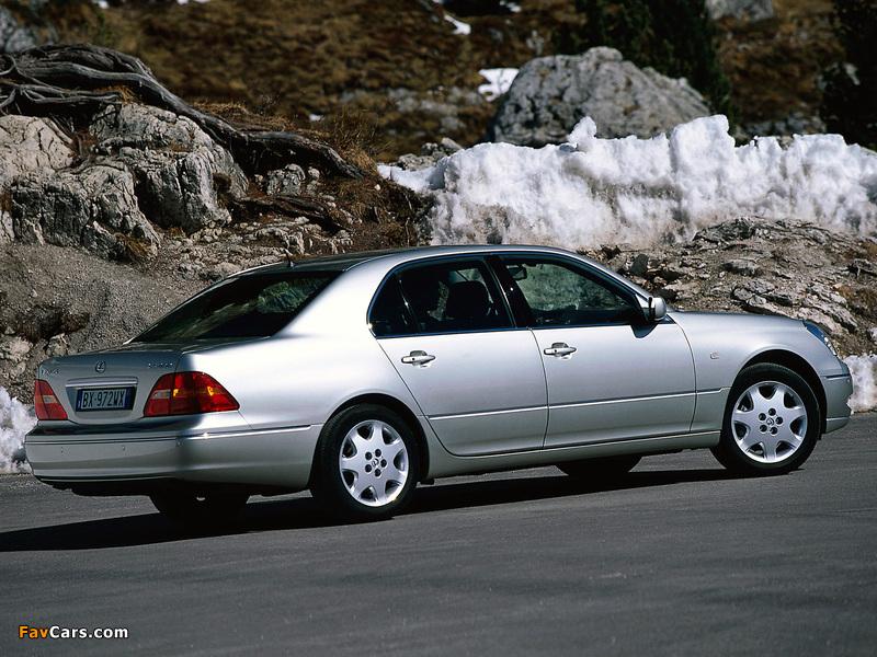 Lexus LS 430 EU-spec (UCF30) 2000–03 pictures (800 x 600)