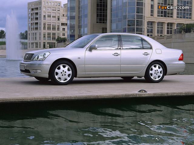 Lexus LS 430 EU-spec (UCF30) 2000–03 wallpapers (640 x 480)
