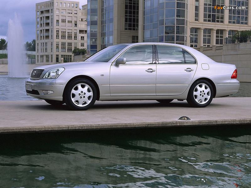 Lexus LS 430 EU-spec (UCF30) 2000–03 wallpapers (800 x 600)