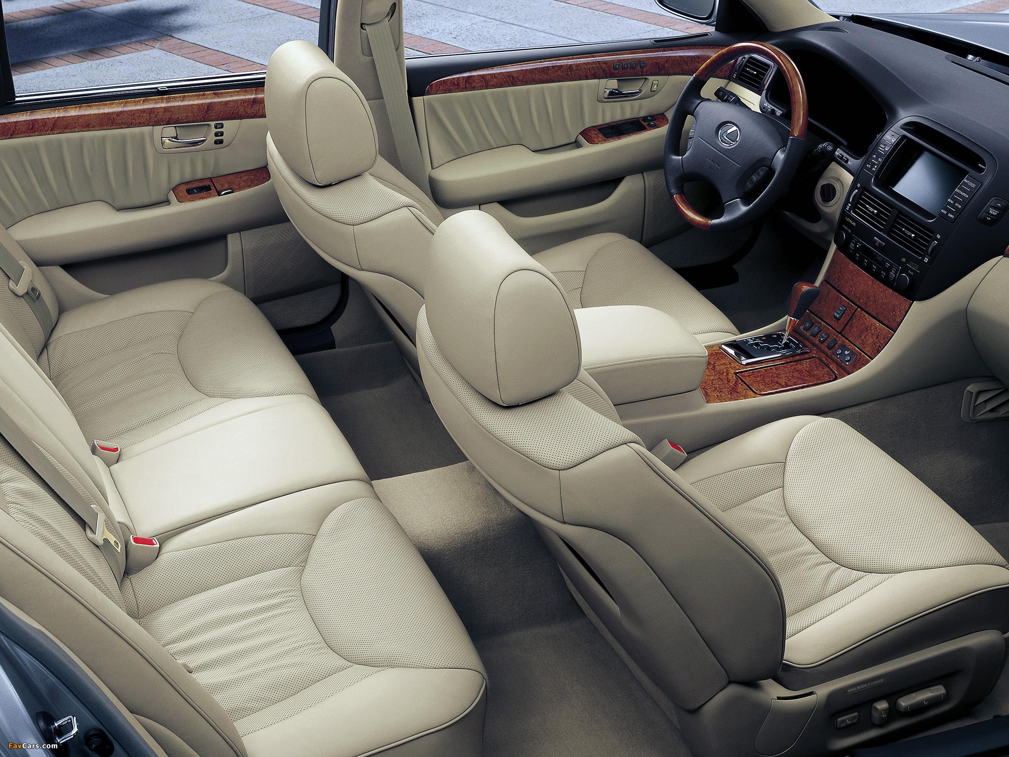 Lexus LS 430 EU-spec (UCF30) 2000–03 wallpapers (2048 x 1536)