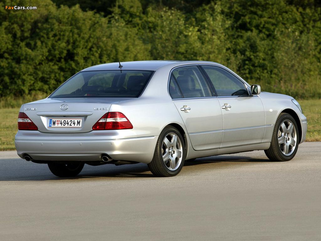 Lexus LS 430 EU-spec (UCF30) 2003–06 photos (1024 x 768)