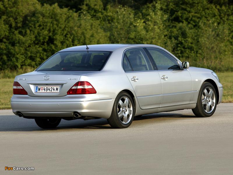 Lexus LS 430 EU-spec (UCF30) 2003–06 photos (800 x 600)