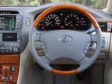Lexus LS 430 UK-spec (UCF30) 2003–06 pictures