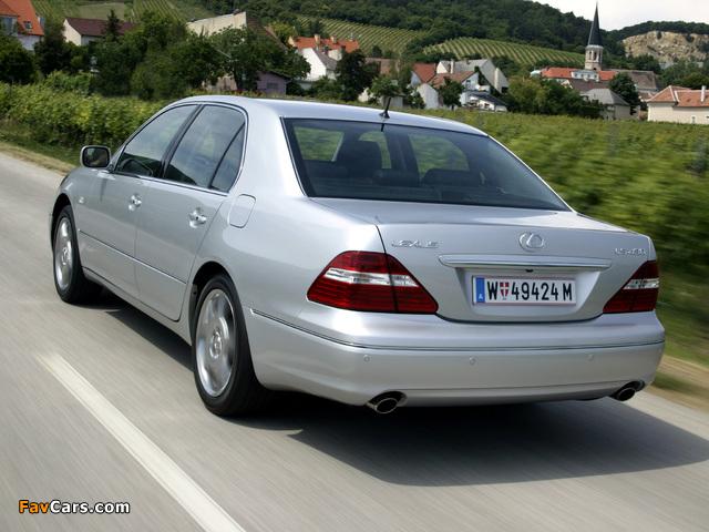 Lexus LS 430 EU-spec (UCF30) 2003–06 wallpapers (640 x 480)
