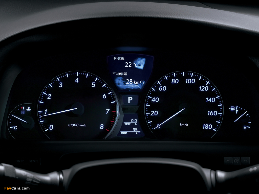 Lexus LS 460 JP-spec (USF40) 2006–08 photos (1024 x 768)