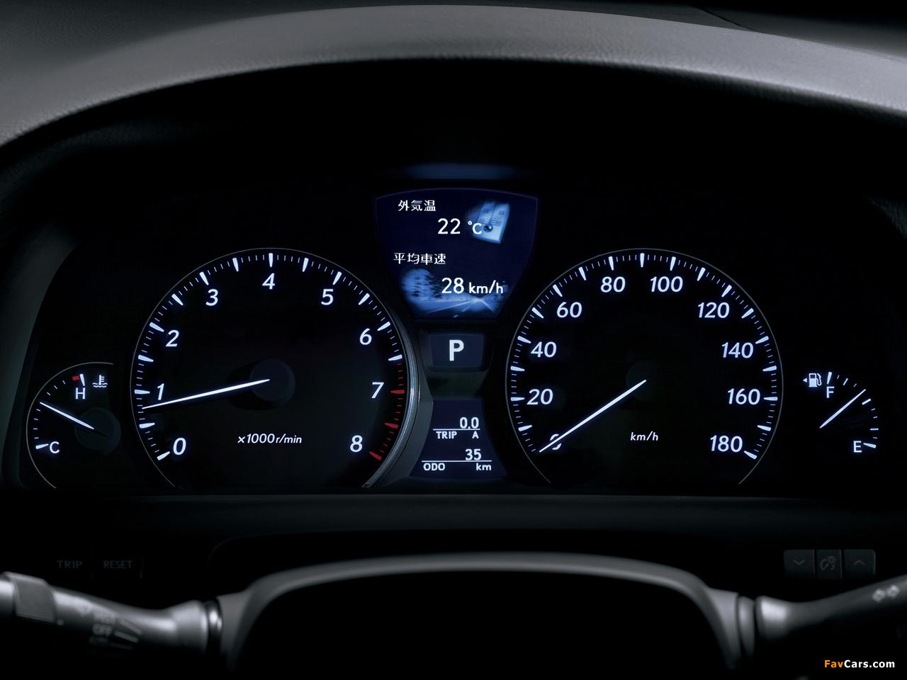 Lexus LS 460 JP-spec (USF40) 2006–08 photos (1280 x 960)