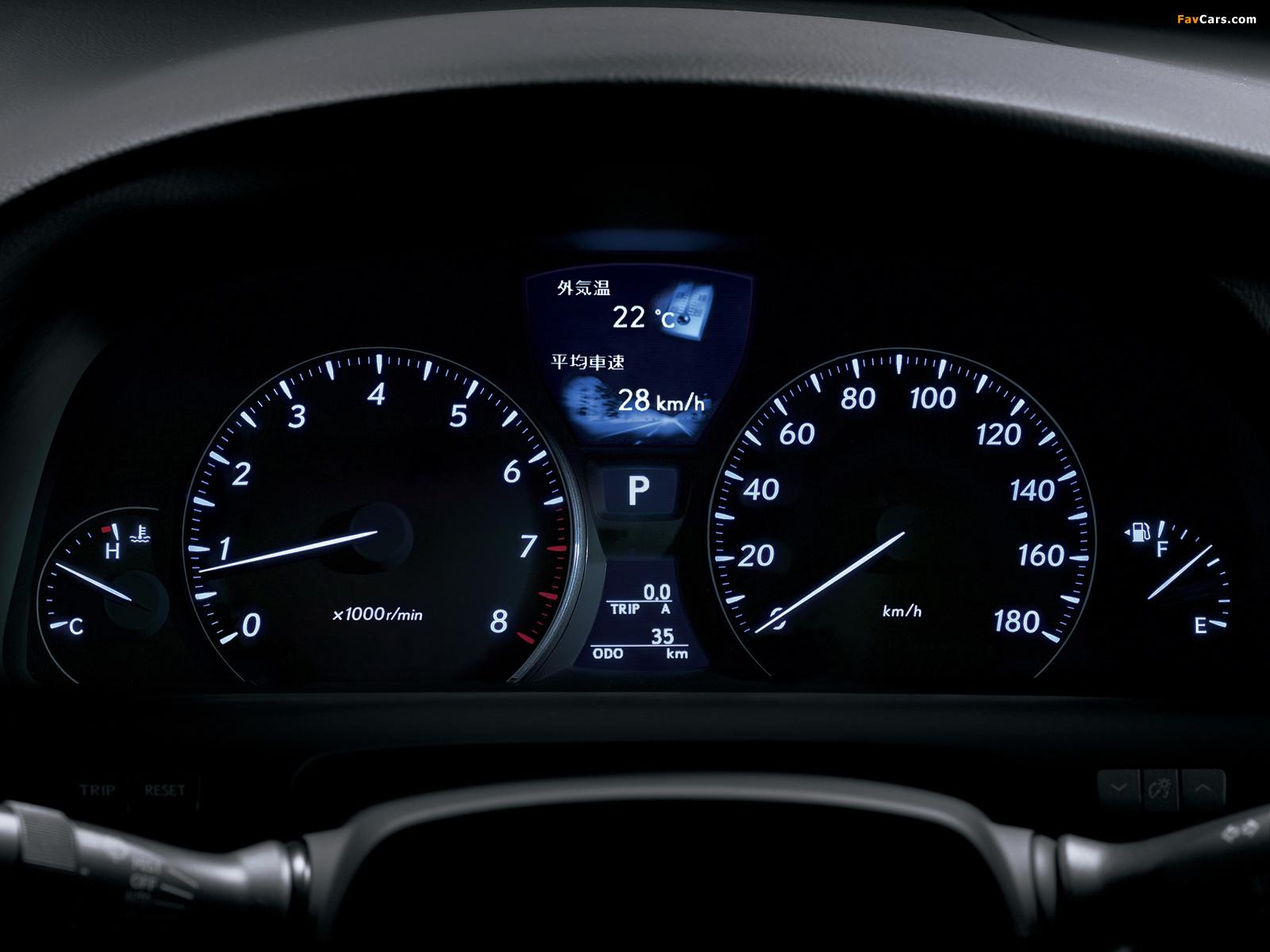 Lexus LS 460 JP-spec (USF40) 2006–08 photos (1600 x 1200)