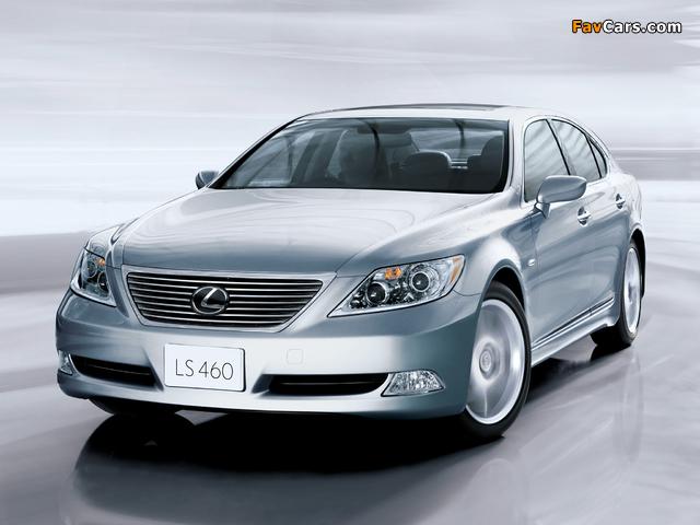 Lexus LS 460 JP-spec (USF40) 2006–08 photos (640 x 480)
