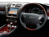 Lexus LS 600h L UK-spec (UVF45) 2009–12 images