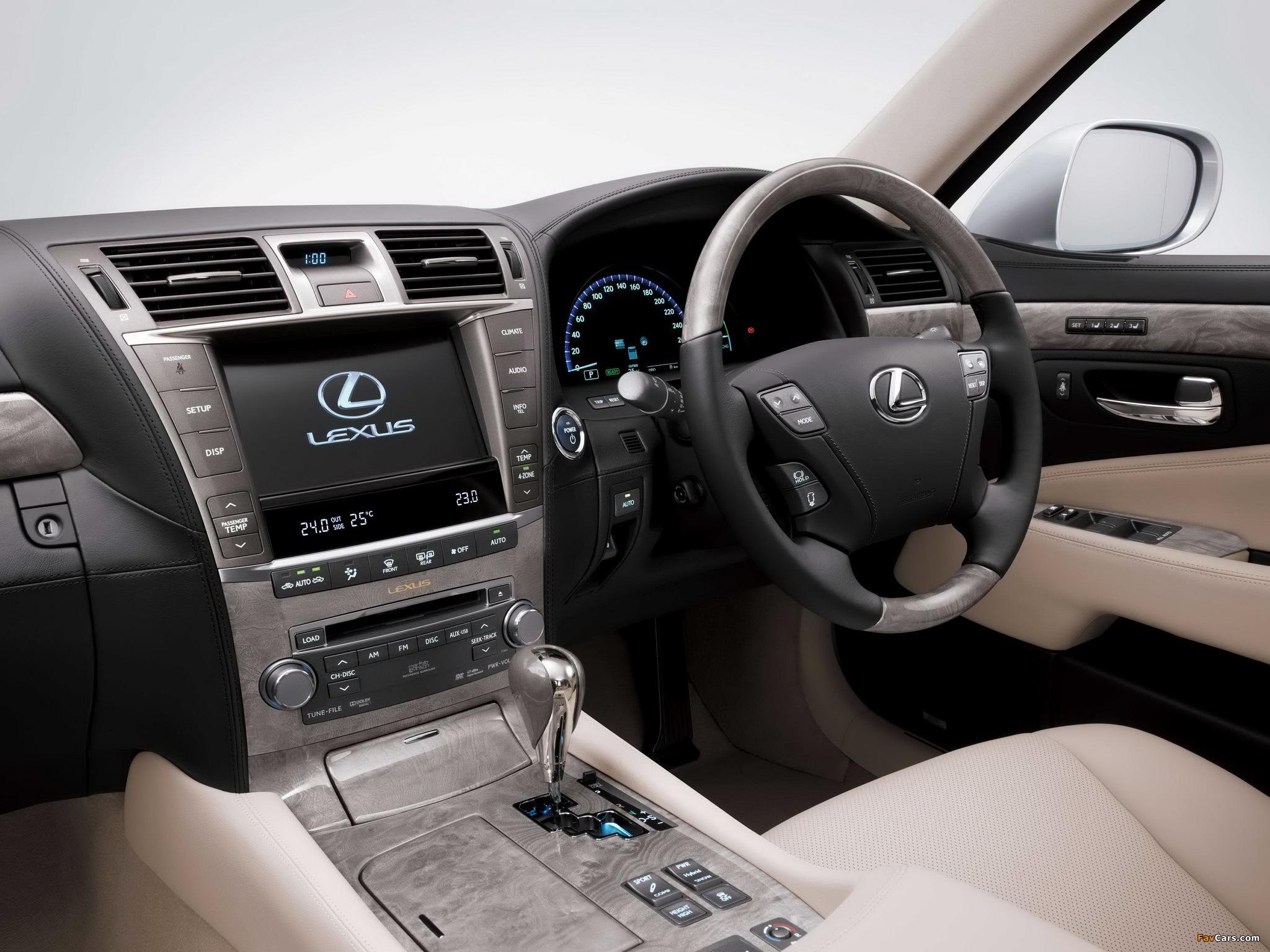 Lexus LS 600h L JP-spec (UVF45) 2009–12 photos (2048 x 1536)