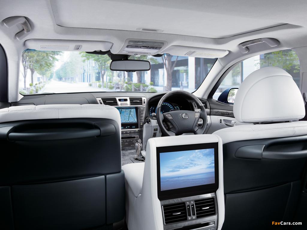 Lexus LS 600h L JP-spec (UVF45) 2009–12 wallpapers (1024 x 768)
