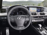 Lexus LS 600h F-Sport EU-spec 2012 images