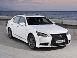 Lexus LS 600h F-Sport EU-spec 2012 photos