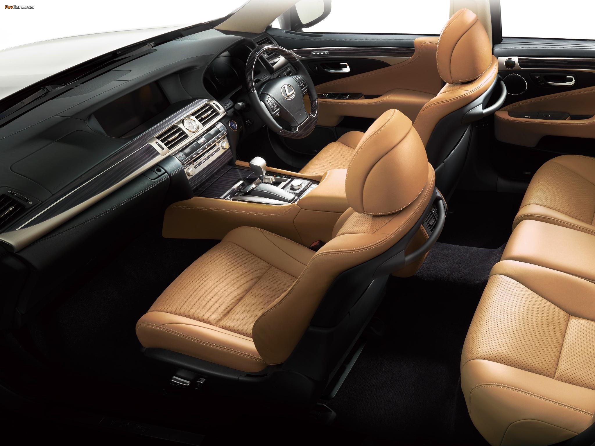 Lexus LS 600h JP-spec 2012 pictures (2048 x 1536)