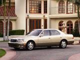 Photos of Lexus LS 400 US-spec (UCF20) 1997–2000