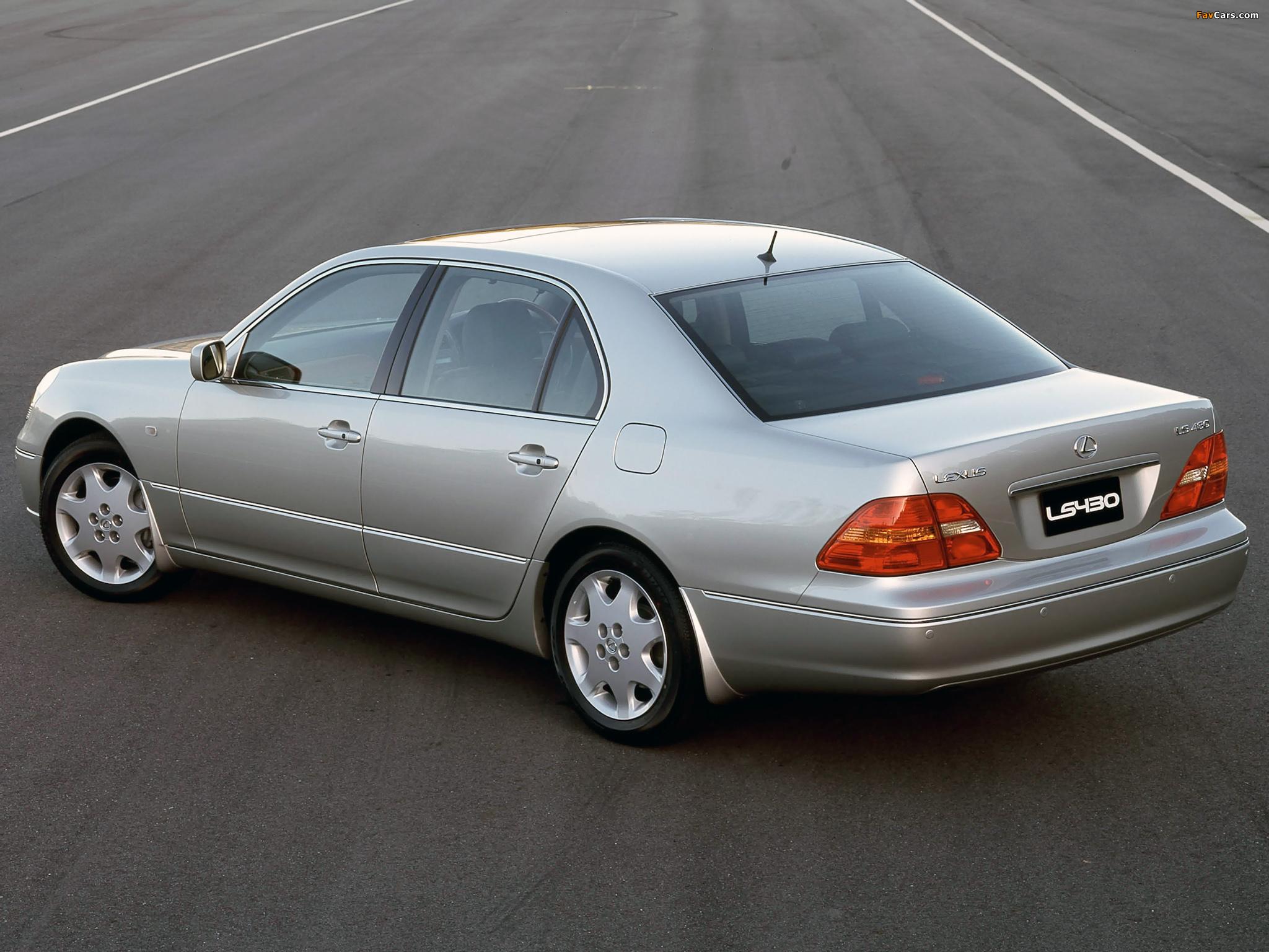 Photos of Lexus LS 430 AU-spec (UCF30) 2000–03 (2048 x 1536)