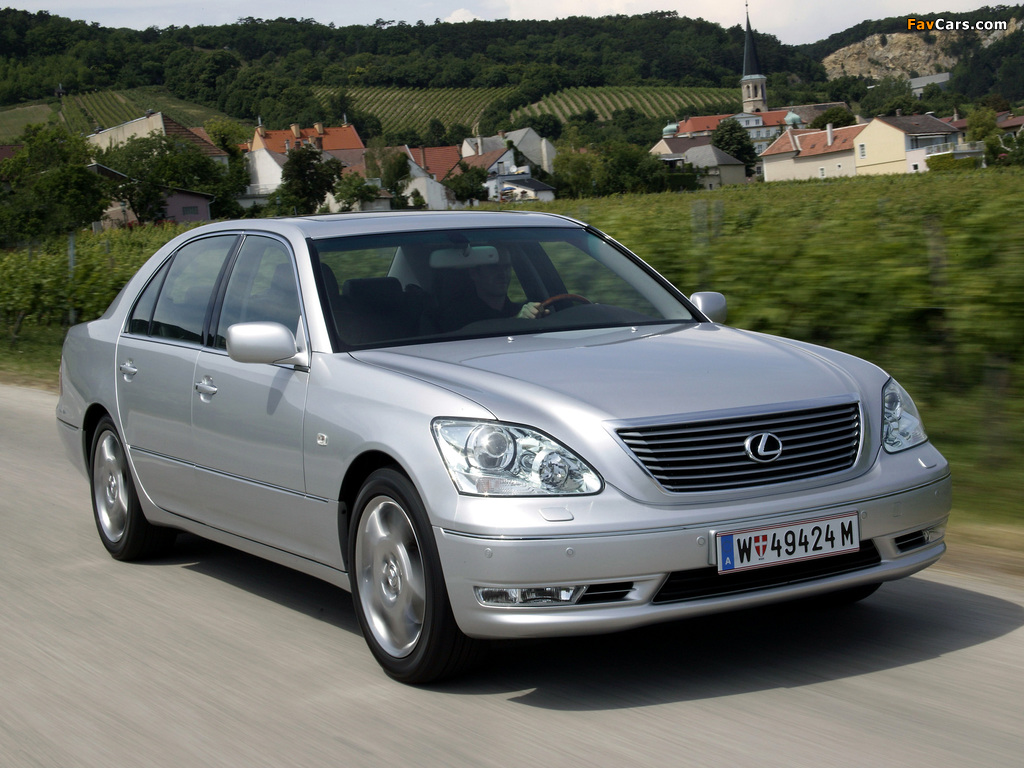 Photos of Lexus LS 430 EU-spec (UCF30) 2003–06 (1024 x 768)