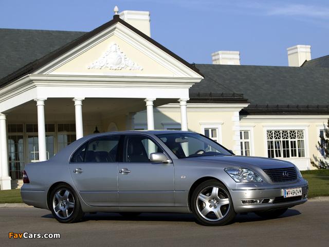 Photos of Lexus LS 430 EU-spec (UCF30) 2003–06 (640 x 480)