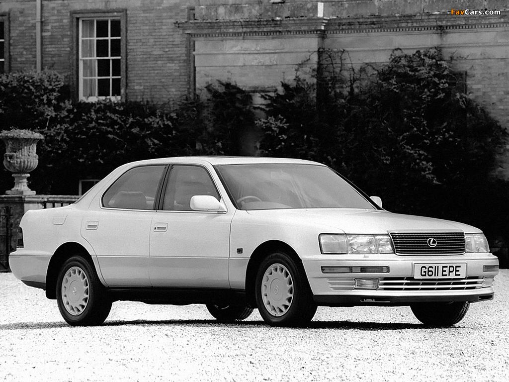 Pictures of Lexus LS 400 UK-spec (UCF10) 1990–94 (1024 x 768)