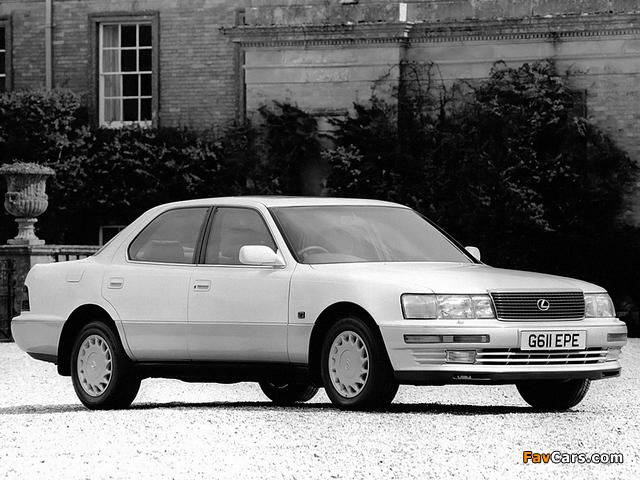 Pictures of Lexus LS 400 UK-spec (UCF10) 1990–94 (640 x 480)