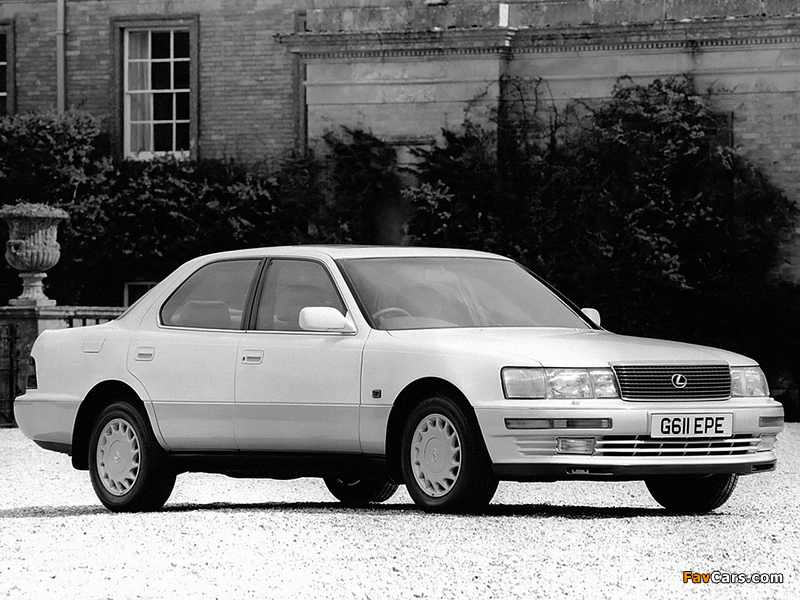 Pictures of Lexus LS 400 UK-spec (UCF10) 1990–94 (800 x 600)