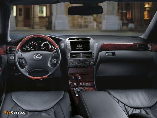 Pictures of Lexus LS 430 EU-spec (UCF30) 2000–03 (640 x 480)