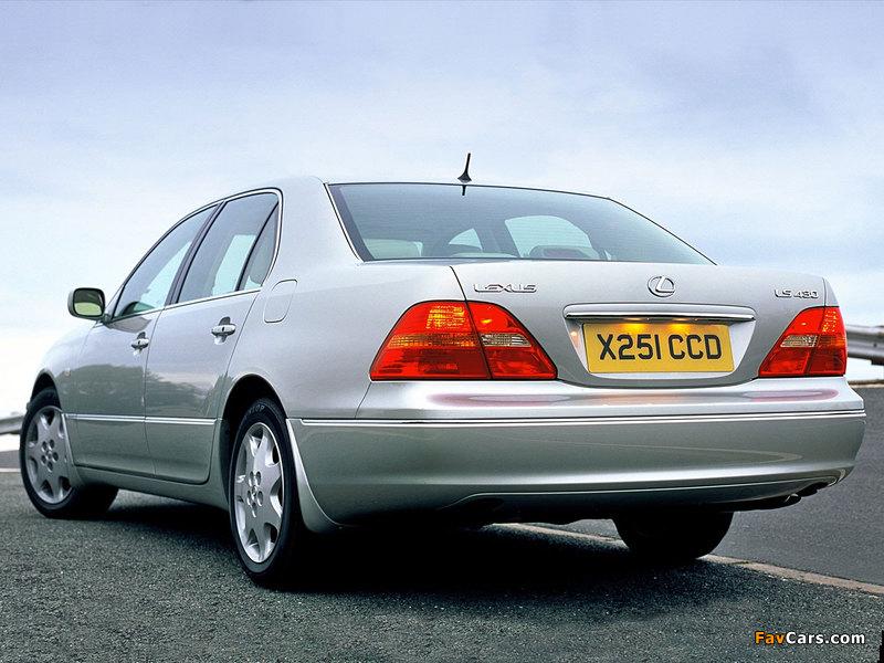 Pictures of Lexus LS 430 UK-spec (UCF30) 2000–03 (800 x 600)