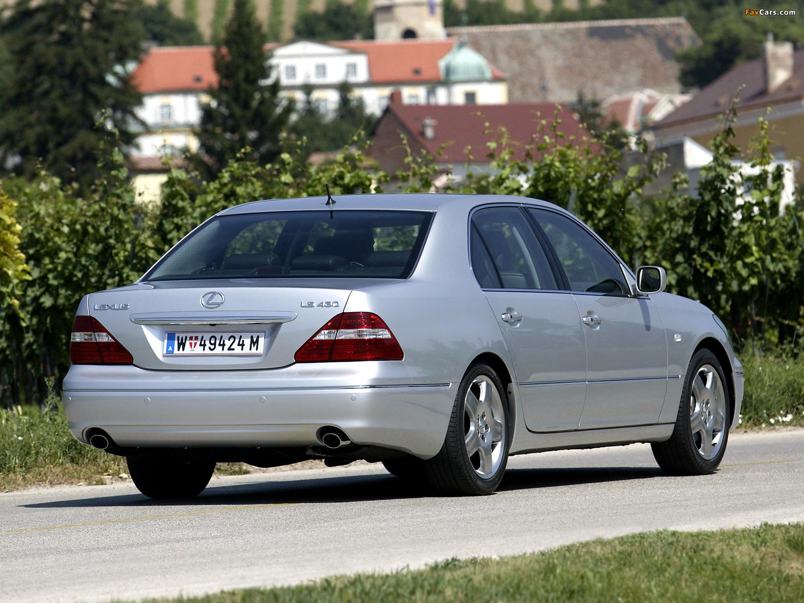 Pictures of Lexus LS 430 EU-spec (UCF30) 2003–06 (1600 x 1200)