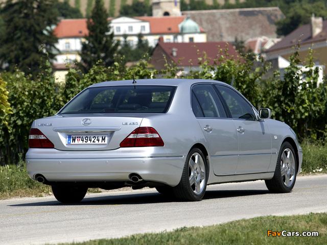 Pictures of Lexus LS 430 EU-spec (UCF30) 2003–06 (640 x 480)