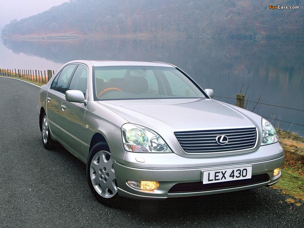Lexus LS 430 UK-spec (UCF30) 2000–03 wallpapers (1024 x 768)