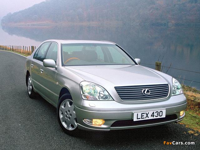 Lexus LS 430 UK-spec (UCF30) 2000–03 wallpapers (640 x 480)